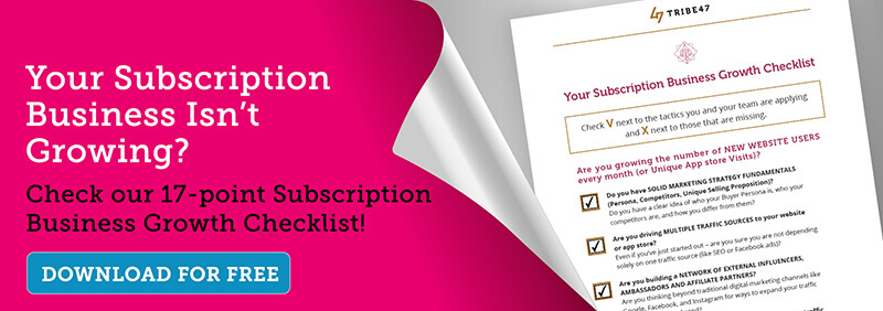 Online subscription business checklist