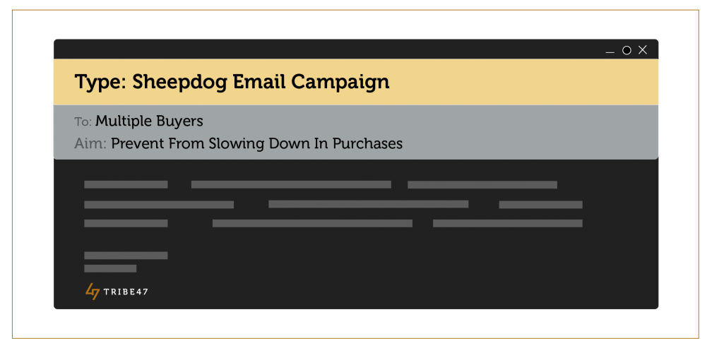 Sheepdog Email Campaign - Ecommerce Sales Tactics
