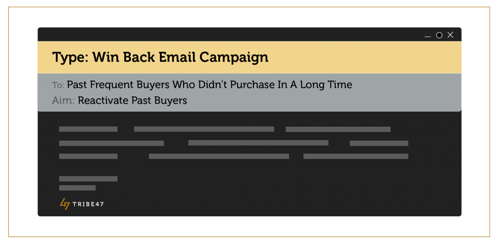 Win Back Email - Ecommerce